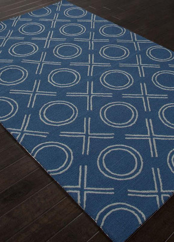 Jaipur Rugs RUG112961 Indoor-Outdoor Durable Polypropylene Blue/Ivory Area Rug ( 7.6x9.6 ) - Peazz.com