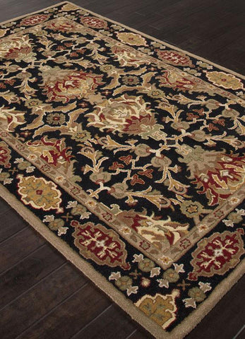 Jaipur Rugs RUG113660 Hand-Tufted Durable Wool Black/Red Area Rug ( 9x12 ) - Peazz.com