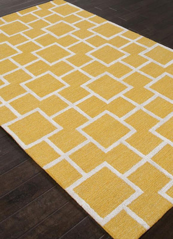 Jaipur Rugs RUG111720 Hand-Tufted Textured Wool/ Art Silk Yellow/Ivory Area Rug ( 2X3 ) - Peazz.com