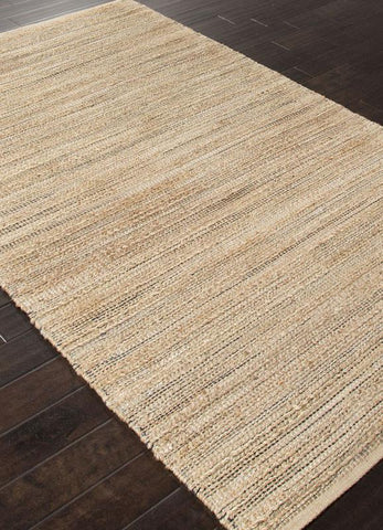 Jaipur Rugs RUG113248 Naturals Solid Pattern Cotton/ Jute Taupe/Gray Area Rug ( 3.6X5.6 ) - Peazz.com