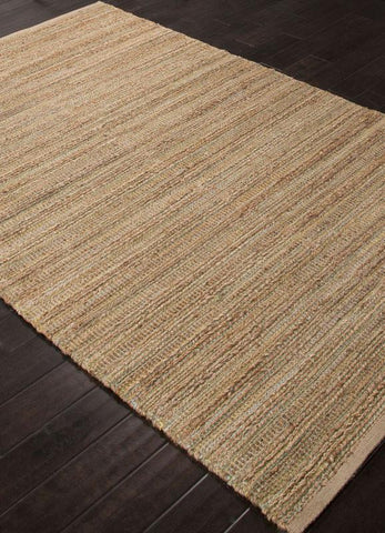 Jaipur Rugs RUG113251 Naturals Solid Pattern Cotton/ Jute Green/Taupe Area Rug ( 8x10 ) - Peazz.com