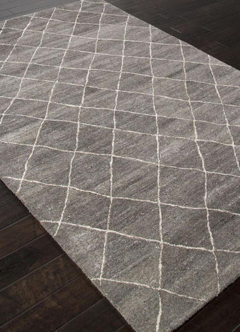 Jaipur Rugs RUG113128 Hand-Tufted Durable Wool Gray/Ivory Area Rug ( 4X6 ) - Peazz.com