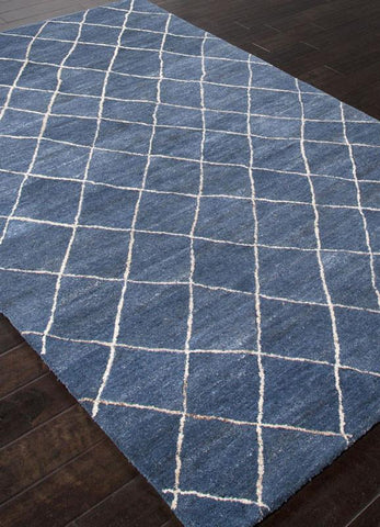 Jaipur Rugs RUG113129 Hand-Tufted Durable Wool Blue/Ivory Area Rug ( 4X6 ) - Peazz.com