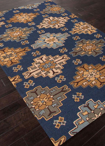 Jaipur Rugs RUG113000 Hand-Tufted Durable Wool Blue/Tan Area Rug ( 4X6 ) - Peazz.com