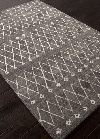Jaipur Rugs RUG113131 Hand-Tufted Durable Wool Gray/Ivory Area Rug ( 4X6 ) - Peazz.com
