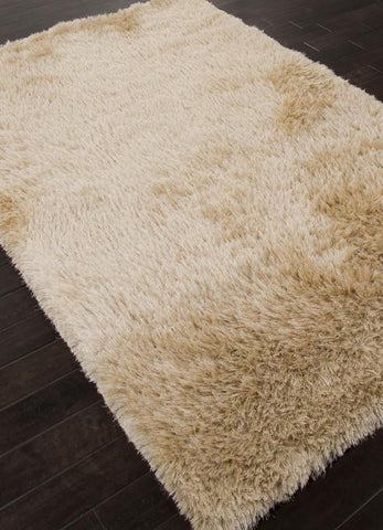 Jaipur Rugs RUG112843 Shag Solid Pattern Polyester Ivory/White Area Rug ( 4X6 ) - Peazz.com