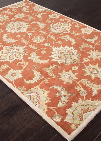 Jaipur Rugs RUG112721 Hand-Tufted Durable Wool Red/Gray Area Rug ( 2.6x4 ) - Peazz.com