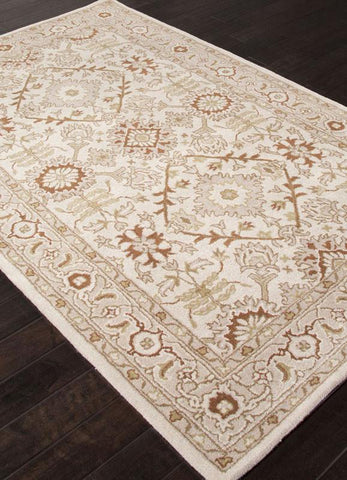 Jaipur Rugs RUG110110 Hand-Tufted Durable Wool Ivory/Red Area Rug ( 5X8 ) - Peazz.com