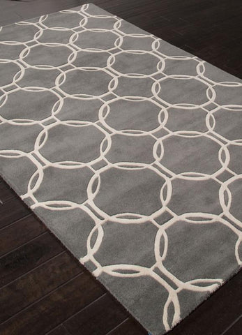 Jaipur Rugs RUG112668 Hand-Tufted Looped & Cut Wool Gray/Ivory Area Rug ( 4X6 ) - Peazz.com