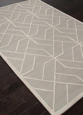 Jaipur Rugs RUG112615 Hand-Tufted Looped & Cut Wool Gray/Ivory Area Rug ( 8x10 ) - Peazz.com