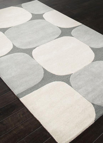 Jaipur Rugs RUG112679 Hand-Tufted Looped & Cut Wool Gray/Ivory Area Rug ( 4X6 ) - Peazz.com
