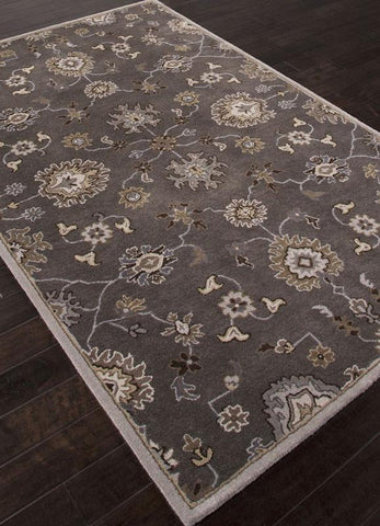 Jaipur Rugs RUG110532 Hand-Tufted Oriental Pattern Wool Gray/Ivory Area Rug ( 5X8 ) - Peazz.com