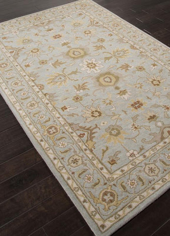 Jaipur Rugs RUG112777 Hand-Tufted Durable Wool Blue/Brown Area Rug ( 2X3 ) - Peazz.com