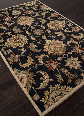 Jaipur Rugs RUG112768 Hand-Tufted Durable Wool Black/Tan Area Rug ( 2.6x4 ) - Peazz.com