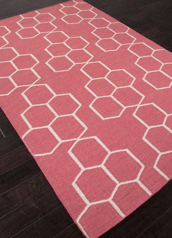 Jaipur Rugs RUG112712 Flat-Weave Geometric Pattern Wool Red/Ivory Area Rug ( 8x10 ) - Peazz.com