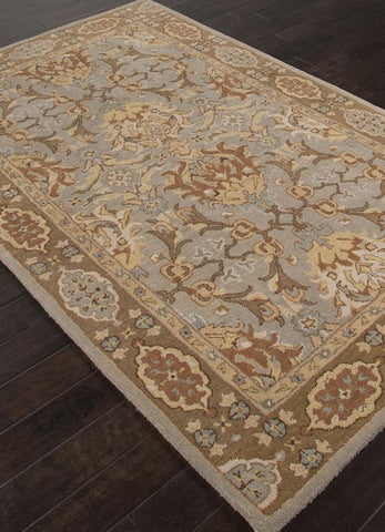 Jaipur Rugs RUG112754 Hand-Tufted Durable Wool Gray/Brown Area Rug ( 2X3 ) - Peazz.com