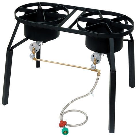 Bayou Classic Double High Pressure Burner With Ext. Legs - Peazz.com