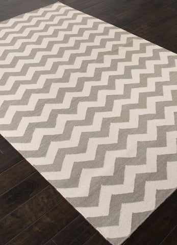 Jaipur Rugs RUG113300 Flat-Weave Durable  Wool Gray/Ivory Area Rug ( 8x10 ) - Peazz.com