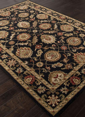 Jaipur Rugs RUG111680 Hand-Tufted Oriental Pattern Wool Black/Red Area Rug ( 2.6x4 ) - Peazz.com