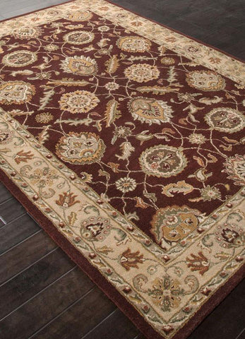 Jaipur Rugs RUG111649 Hand-Tufted Oriental Pattern Wool Red/Taupe Area Rug ( 8x10 Oval ) - Peazz.com