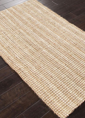 Jaipur Rugs RUG112588 Naturals Textured Jute Ivory/Taupe Area Rug ( 5X8 ) - Peazz.com