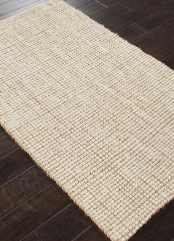 Jaipur Rugs RUG112589 Naturals Textured Jute Ivory/White Area Rug ( 5X8 ) - Peazz.com