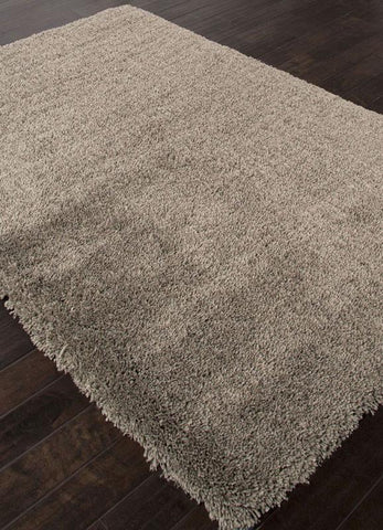 Jaipur Rugs RUG112924 Shag Solid Pattern Polyester Taupe/Tan Area Rug ( 5X8 ) - Peazz.com