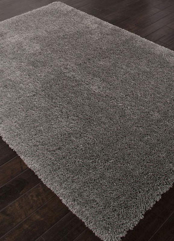 Jaipur Rugs RUG112928 Shag Solid Pattern Polyester Gray/ Area Rug ( 5X8 ) - Peazz.com