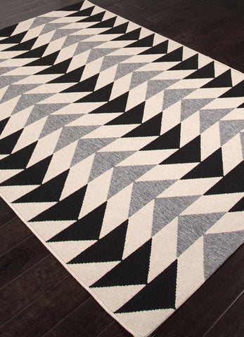 Jaipur Rugs RUG113738 Indoor-Outdoor Durable Polypropylene Ivory/Black Area Rug ( 7.11x10 ) - Peazz.com