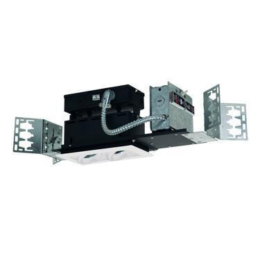 Jesco Lighting MMG1650-2EAW 2-Light Linear New Construction (Low Voltage) Includes 120V Lightech Electronic Transformer - Peazz.com