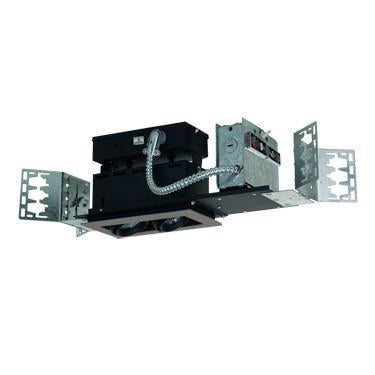 Jesco Lighting MMG1650-2ESB 2-Light Linear New Construction (Low Voltage) Includes 120V Lightech Electronic Transformer - Peazz.com