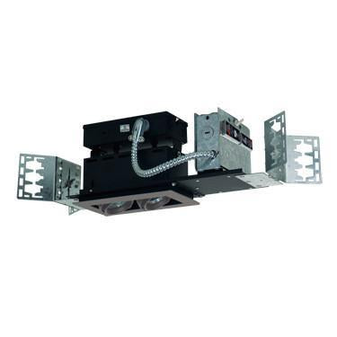 Jesco Lighting MMG1650-2ESS 2-Light Linear New Construction (Low Voltage) Includes 120V Lightech Electronic Transformer - Peazz.com