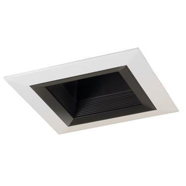 "Jesco Lighting RLT-6003-BK-WH 6"" Standard Square Step BaffleTrim - Peazz.com"