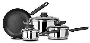 Kinetic 12020NS Kitchen Basics 7 Piece Set with Nonstick Frypan Stainless Steel - Peazz.com