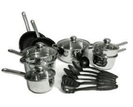 Kinetic 29268 19 Piece Set with Eclipse 25 Nonstick Interior on Fry Pans - Peazz.com