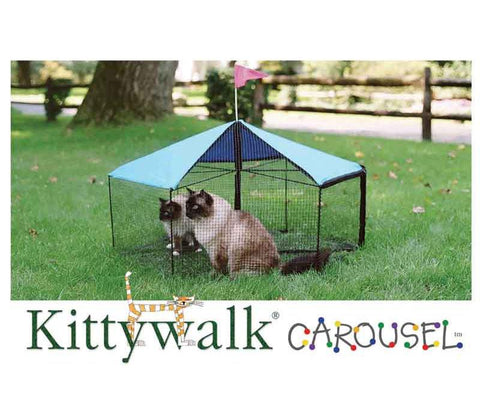 Kittywalk Carousel for Cats & Small Dogs (KWSCAR105) - Peazz.com