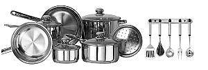 Kinetic Classicor 17pc Stainless Steel Cookware Set - Peazz.com