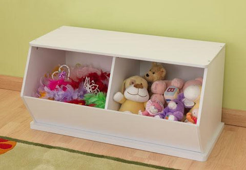 KidKraft 14178 White Double Storage Unit - Peazz.com