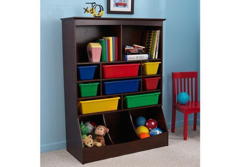 KidKraft 14982 Wall Storage Unit Espresso - Peazz.com