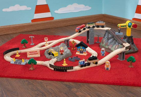 KidKraft 17805 Construction Bucket Top Train Set - Peazz.com