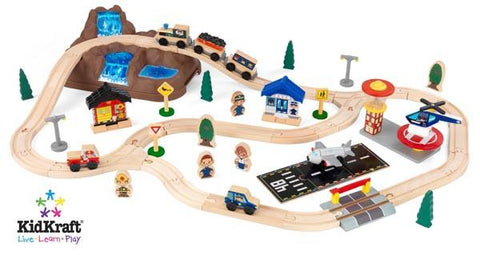 KidKraft Bucket Top Mountain Train Set 17826 - Peazz.com