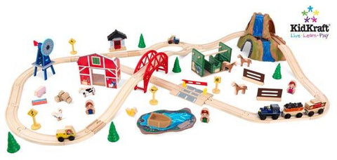 KidKraft Farm Train Set 17827 - Peazz.com