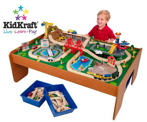 KidKraft Ride Around Town Train Set with Table 17836 - Peazz.com