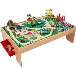 KidKraft Waterfall Mountain Train Set and Table 17850 - Peazz.com