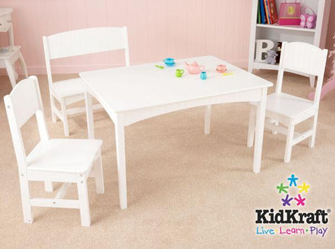 KidKraft Nantucket Table with Bench and 2 Chairs 26110 - Peazz.com