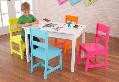 KidKraft 26324 Highlighter Table & 4 Chair Set - Peazz.com