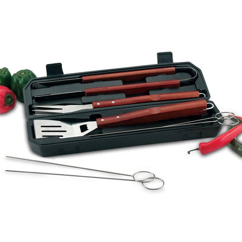 Chefmaster 8pc Barbeque Set in Carrying Case - Peazz.com