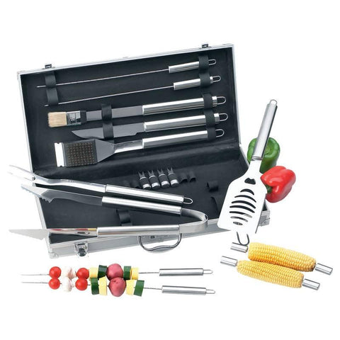 Chefmaster 19pc All Stainless Barbeque Set - Peazz.com