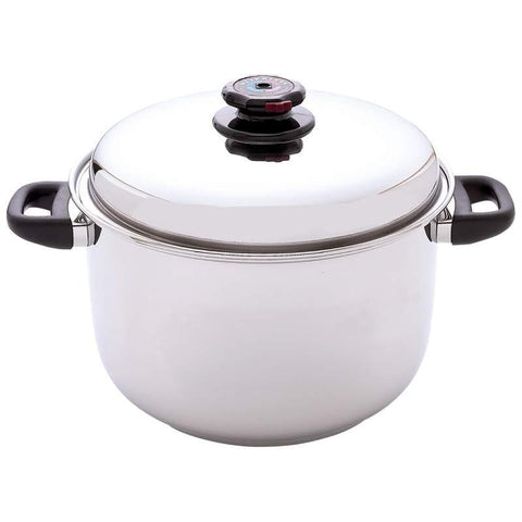 Steam Control 12qt 12-Element Surgical Stainless Steel Stockpot - Peazz.com
