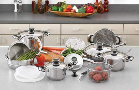 Chef's Secret 22pc 12-Element Super Set with Surgical Stainless Steel - Peazz.com